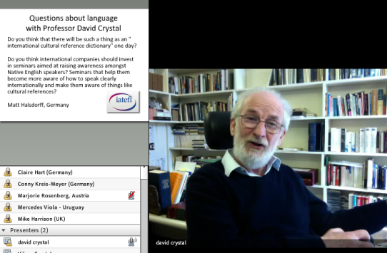David Crystal IATEFL Webinar